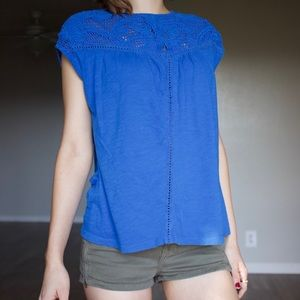 Lucky Brand Crotchet Tank Top Blouse size S